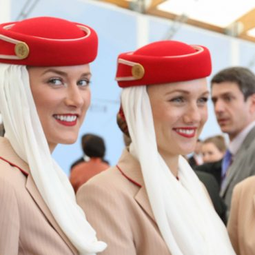 emirates and hainan airlines cabin crew