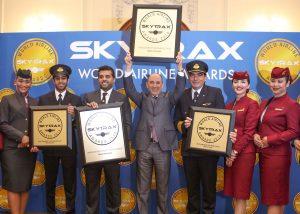 qatar airways celebrate 2018 world airline awards